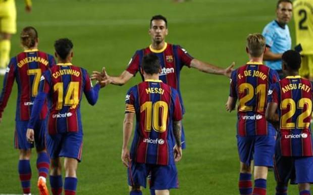 Il Barcellona, avversario della Juventus nel gruppo G. Lapresse